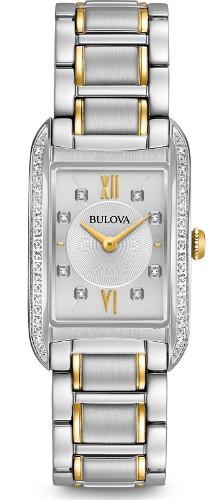 BULOVA 98R227 ブローバ レディース ブレス ウォッチ 28Pダイヤモンド【送料無料】【ベルト調整無料】【smtb-KD】