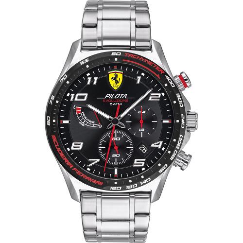 Ferrari 0830768 PILOTA フェラーリ クロノグラフ 時計 オフィシャル メンズ ウォッチ 【送料無料】【代引手数料無料】【ベルト調整無料】