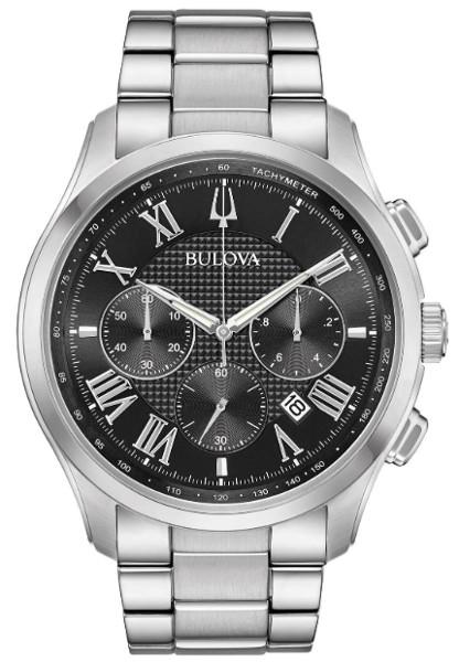 【ベルト調整無料】日本未発売 BULOVA 96B288 ブローバ メンズ クロノグラフ ウォッチ 時計 ブラック