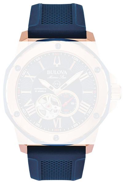 【時計ベルト、バンド】BULOVA ブローバ 98A227 ラバーバンド 純正ベルト ストラップ