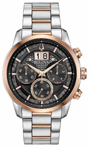 日本未発売 BULOVA 98B335 ブローバ メンズ クロノグラフ ウォッチ 時計