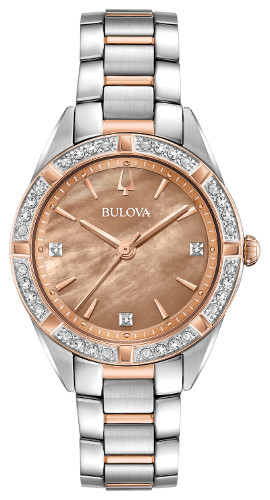BULOVA 98R264 ブローバ マザーオブパール レディースウォッチ 女性用 ダイヤモンド 腕時計【送料無料】【代引手数料無料】