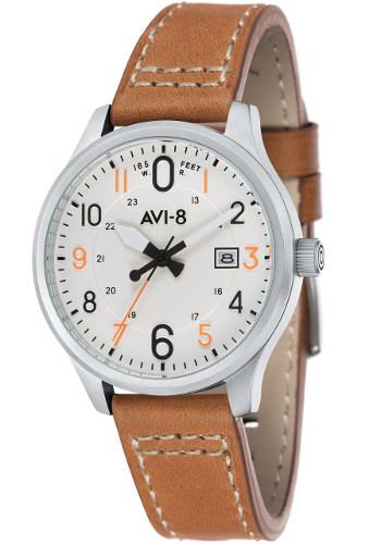 AVI-8 ホーカーハリケーン ミリタリー メンズ レザーウォッチ 腕時計 AV-4053-01【送料無料】【代引手数料無料】