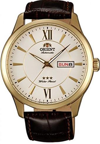 逆輸入 ORIENT EM7P005W オリエント 自動巻 オートマ メンズ ウォッチ 腕時計 レザーベルト ゴールド【送料無料】
