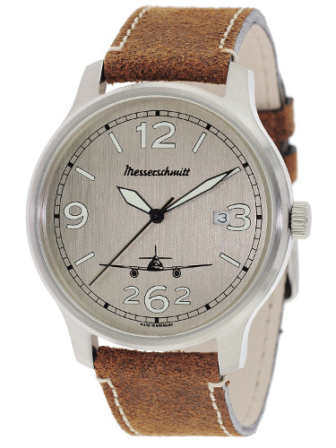 Messerschmitt メッサーシュミット ミリタリー レザーベルト ME42-ALU-L 時計 腕時計【送料無料】【代引手数料無料】