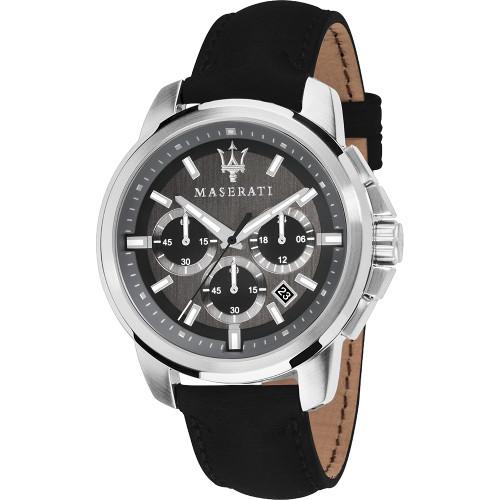 イタリア Maserati マセラティ R8871621006 時計 メンズ ウォッチ 腕時計 クロノグラフ カーブランド レザーベルト