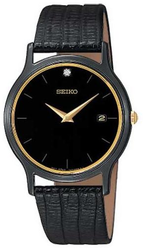 セイコー SEIKO SKP333 逆輸入 男女兼用 レザー ウォッチ 腕時計 【送料無料】