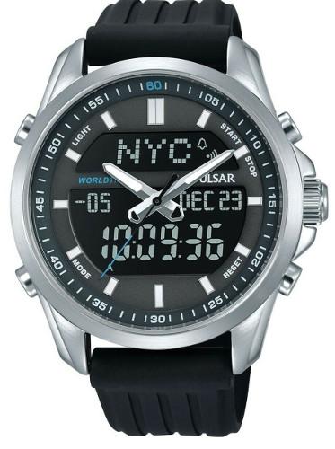 SEIKO セイコー PULSAR PZ4023X1 パルサー デジタル ワールドタイム アラーム クロノグラフ デジタル メンズ ウォッチ 腕時計【送料無料】