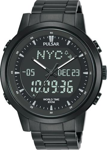 SEIKO セイコー PULSAR PZ4061X1 パルサー デジタル ワールドタイム アラーム クロノグラフ デジタル メンズ ウォッチ 腕時計【送料無料】