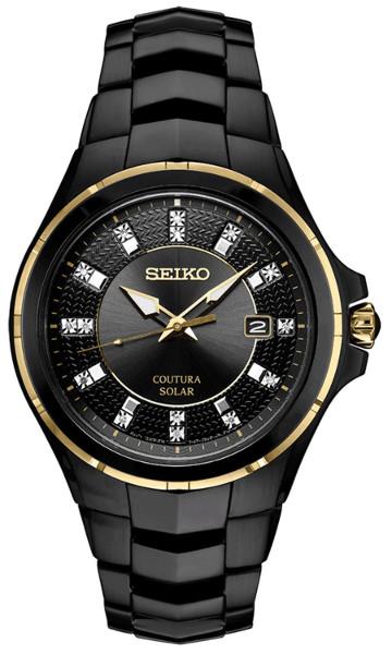 【ベルト調整無料】SEIKO SNE506 セイコー ダイヤモンド 15p 逆輸入 海外モデル ソーラー メンズ ウォッチ 腕時計 時計【送料無料】【代引手数料無料】