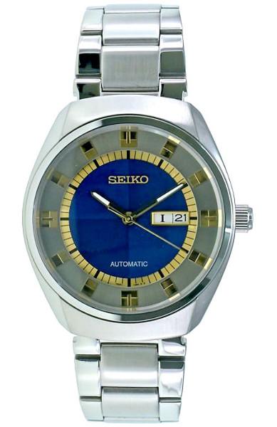 【送料無料】【ベルト調整無料】SEIKO SNKN79 セイコー 逆輸入 自動巻 オートマ メンズ ウォッチ 時計 ブルー