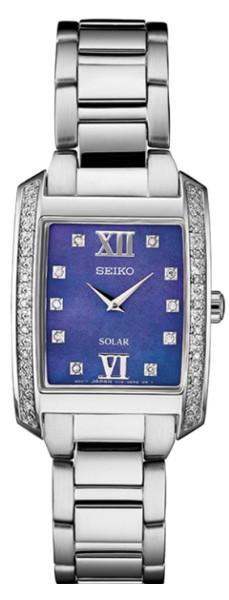 【ベルト調整無料】SEIKO SUP401 セイコー ソーラー  ダイヤモンド 28p レディース ウォッチ シェル スクエア 角 ブルー 【送料無料】【代引手数料無料】