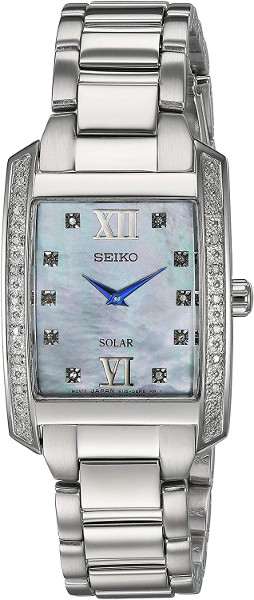 【ベルト調整無料】SEIKO SUP399 セイコー ソーラー  ダイヤモンド 28p レディース ウォッチ シェル スクエア 角 【送料無料】【代引手数料無料】