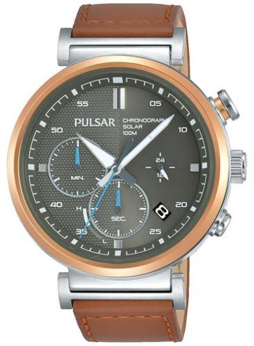 日本未発売 SEIKO セイコー PULSAR PZ5070X1 パルサー クロノグラフ メンズ ソーラー ウォッチ 時計【送料無料】