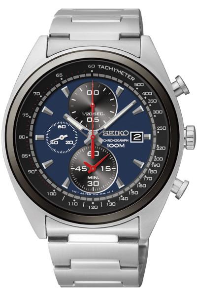 【ベルト調整無料】日本未発売 SEIKO SNDF89 セイコー クロノグラフ メンズ ウォッチ 腕時計 時計 ブルー