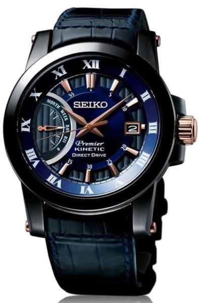 【送料無料】日本未発売 逆輸入 SEIKO SRG012 セイコー キネティックダイレクトドライブ ウォッチ 時計 腕時計 メンズ レザーベルト ネイビー
