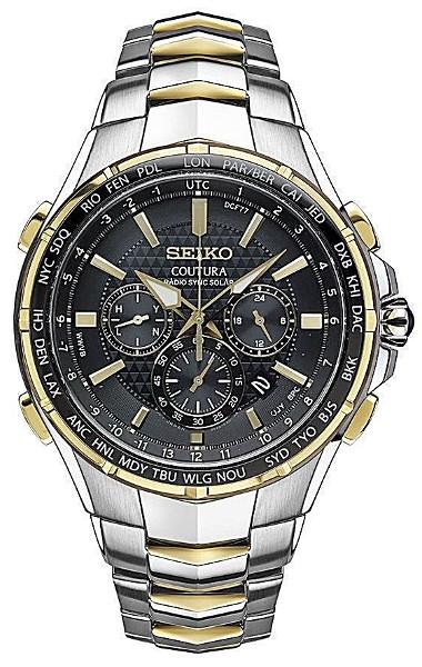 【ベルト調整無料】SEIKO SSG010 セイコー 電波ソーラー 電波時計 ワールドタイム メンズ ウォッチ コンビカラー