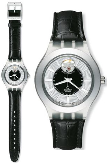 スウォッチ SVDK1002 自動巻 オートマチック メンズ 腕時計 時計 レザー 【送料無料】