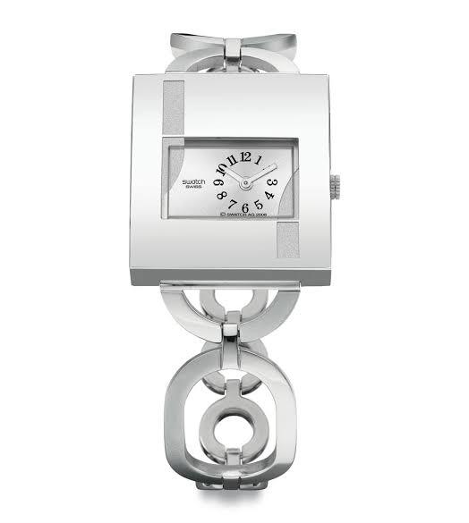 【送料無料】SWATCH YUS122G スウォッチ 腕時計 時計 レディース 角 ブレス