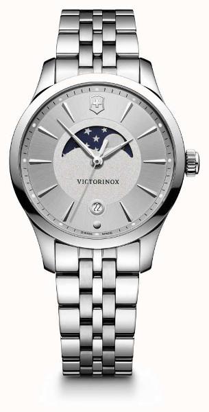 【ベルト調整無料】VICTORINOX SWISS ARMY 241833 ビクトリノックス ムーンフェイズ 月齢 レディース シルバー ウォッチ 腕時計 時計 【送料無料】【代引手数料無料】