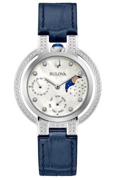 BULOVA 96R237 ブローバ ダイヤモンド レディース ムーンフェイズ ウォッチ 月 ムーン