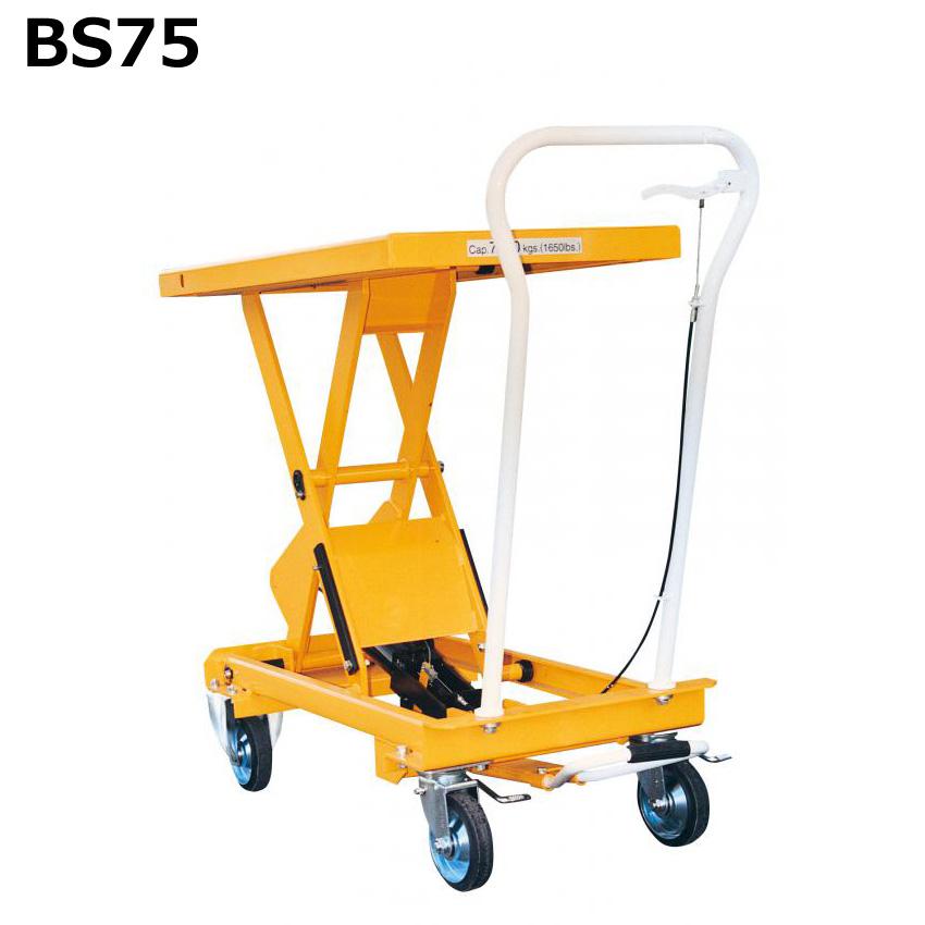 送料無料・代引不可|テーブルリフトBS-75 750kgタイプ 業務用/【個人宅配送不可】