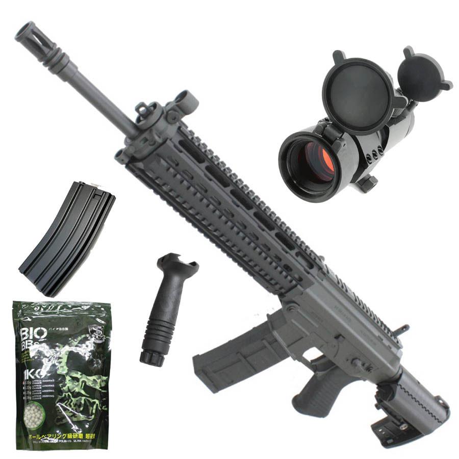 【本体セット】CM001BBK SIG 556 SWAT フルメタル電動ガン BK【スペシャル5点セット】【180日間安心保証つき】