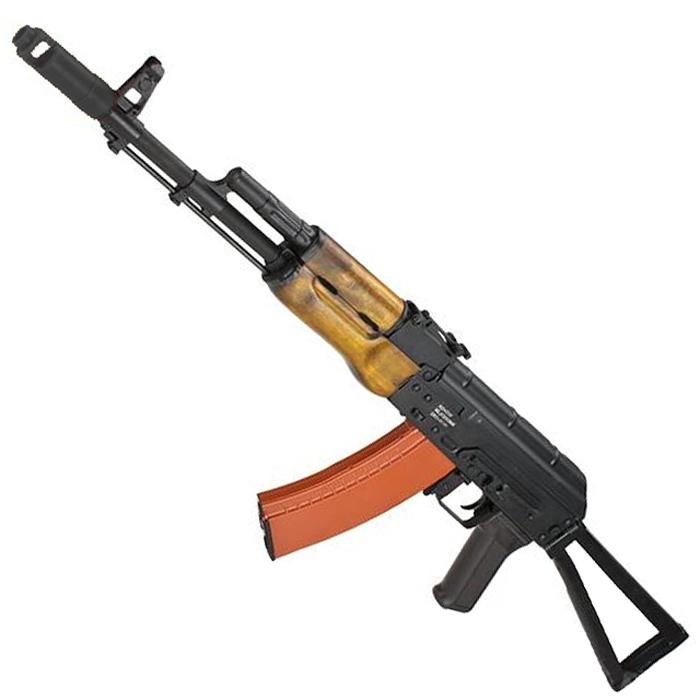 《3月26日再入荷商品》CM048C AKS-74N リアルウッド フルメタル電動ガン【180日間安心保証つき】
