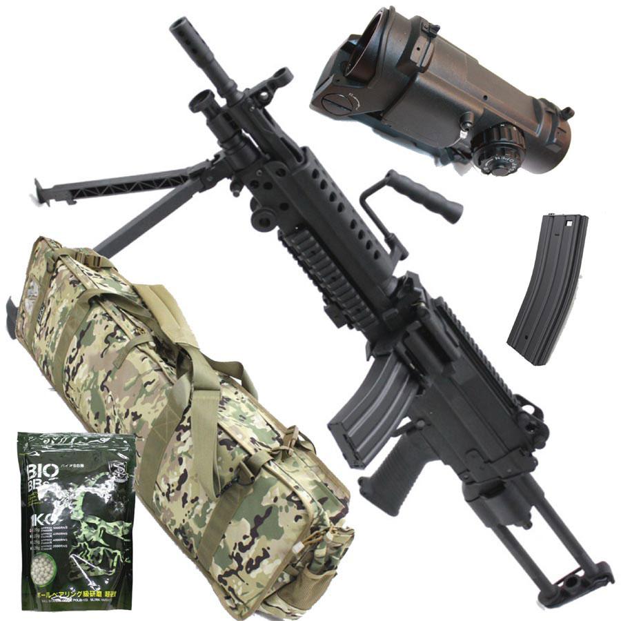 S&T M249 PARA スポーツライン電動ガン BK【スペシャル5点セット】【180日間安心保証つき】