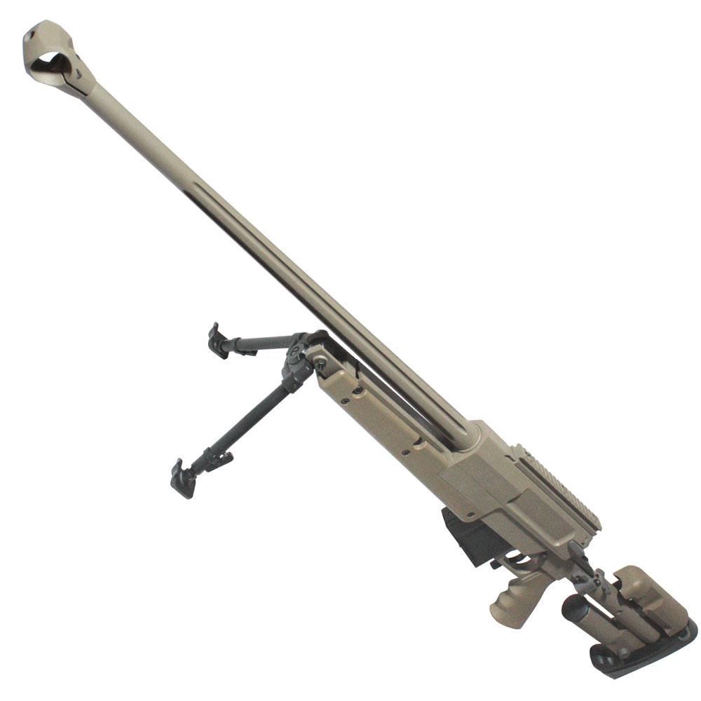 【第1弾!GWフェア 対象商品】S&T PGM Mini-Hecate.338 ガスライフル TAN【ハードガンケース付属】
