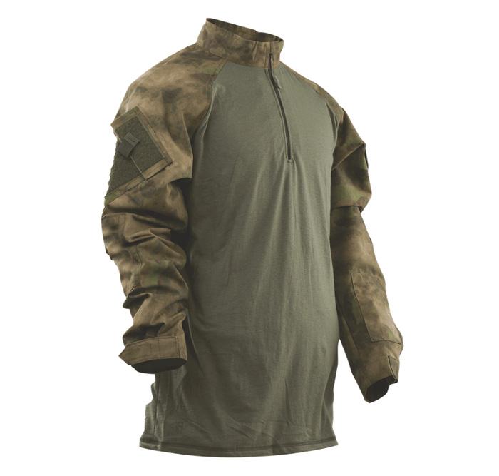 RU-SPEC MEN'S TRU コンバットシャツ 1/4ZIP A-TACS FG