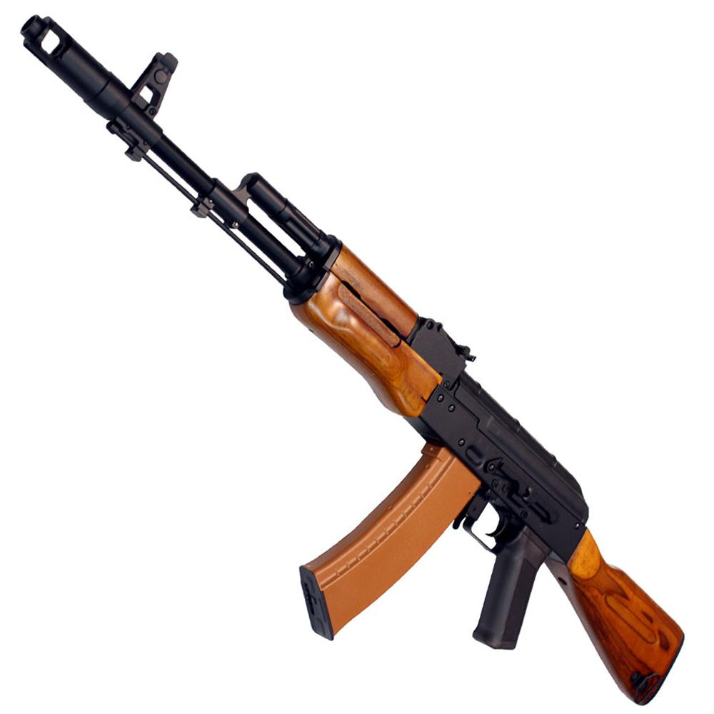 《4月8日再入荷商品》CM048 AK-74N リアルウッド フルメタル電動ガン 【180日間安心保証つき】