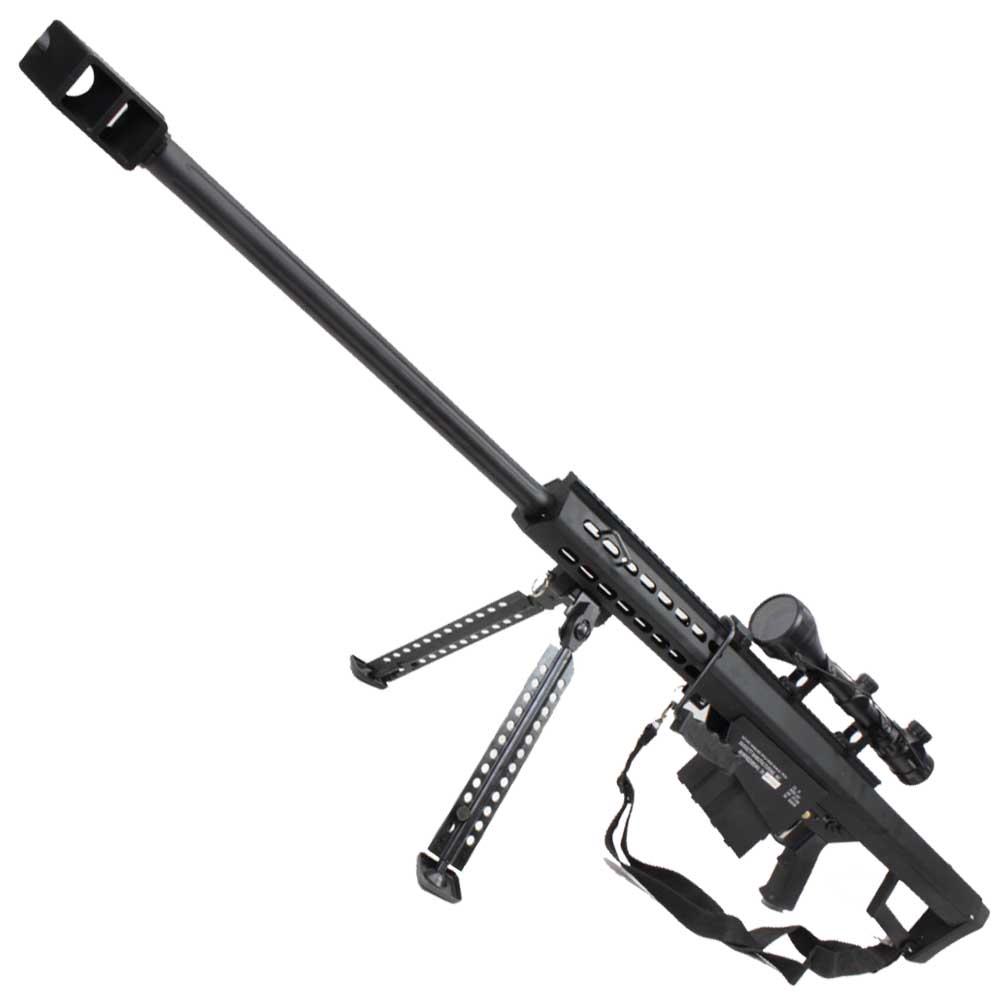 SNOW WOLF BARRET M82A1 QDバレル式 フルメタル エアーコッキング BK【スコープセット】