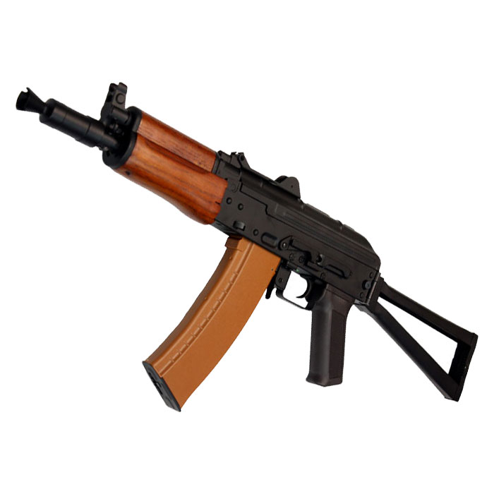 【近接戦闘!CQBフェア対象商品】CM035A AKS-74UN(REAL WOOD) 電動ガン【180日間安心保証つき】