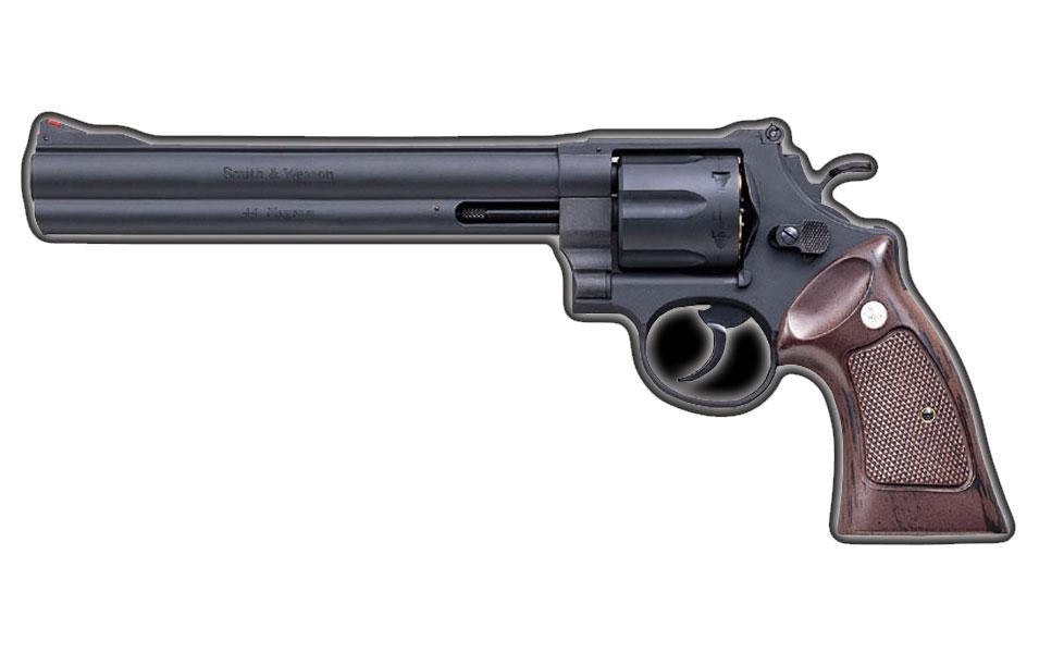 マルシン M29 6mm・8-3/8インチ/ハーフチェッカー木グリBK HW