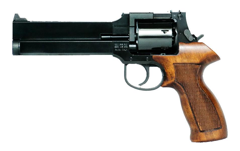 マルシン マテバリボルバー/6mm/X/MB/4インチ/ブナ製木グリ