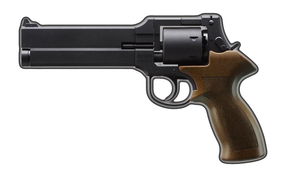 マルシン マテバリボルバー/6mm/X/SV/5インチ/ブラックラバー塗装プラグリップ