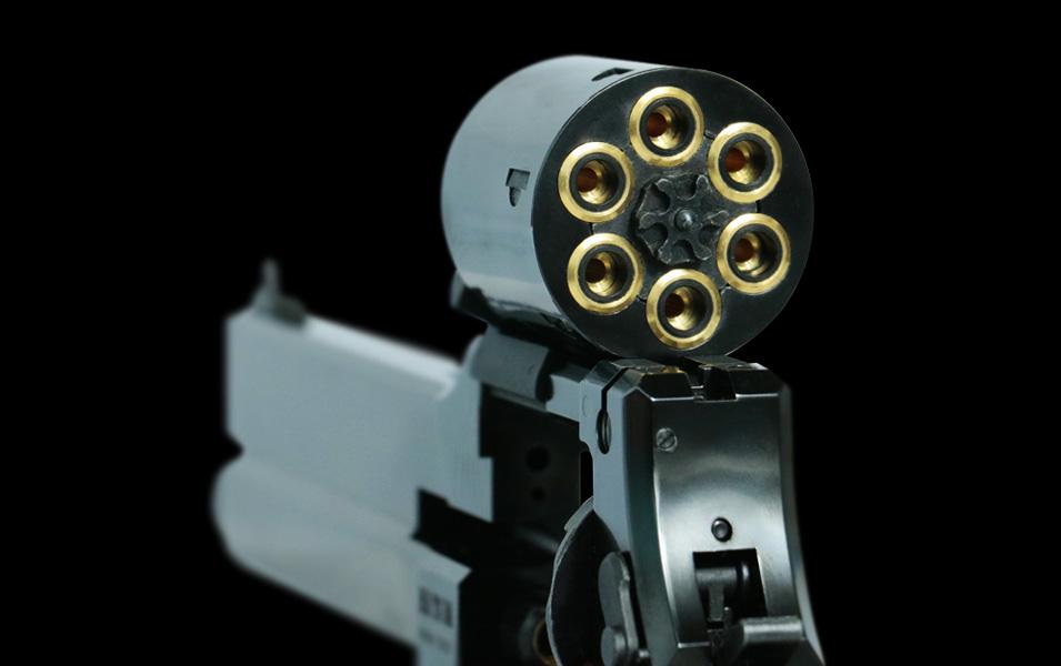 ≪6月20日新商品≫マルシン マテバリボルバー/6mm/X/SV/5インチ/ブナ製木グリ