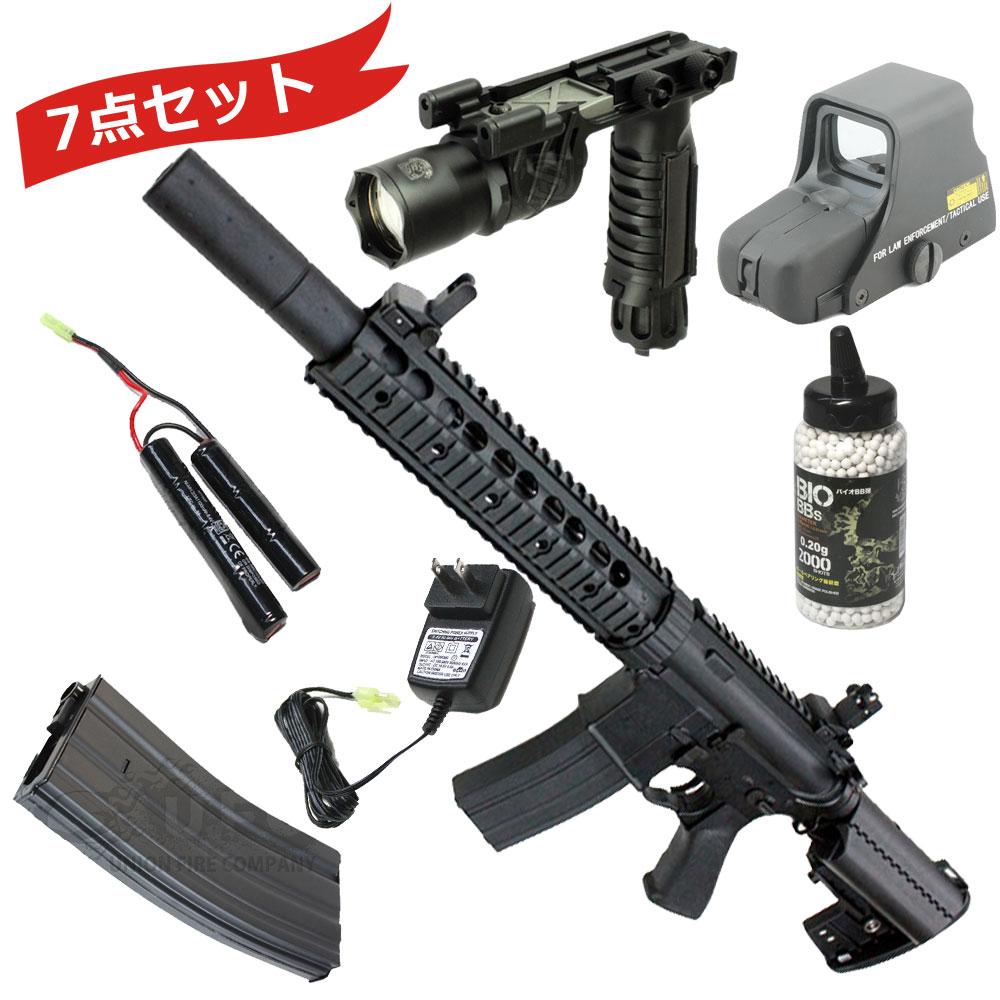 【本体セット】CM070BK Knight's FF SD フルメタル電動ガン BK【180日間安心保証つき】