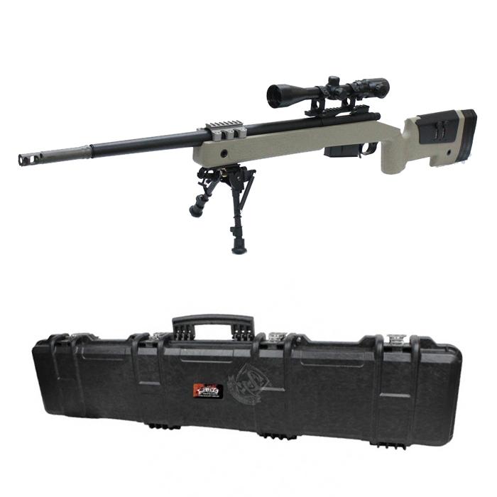 S&T M40A5 エアーコッキング ライフル DE【バイポッド&スコープ&ハードケースセット】