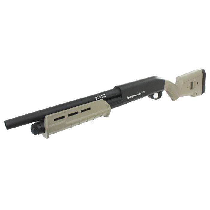 【ショットガンフェア対象商品】CM355MDE M870 M-Style フルメタルショットガン ショート DE【予備マグ&バイオ弾サービス!】