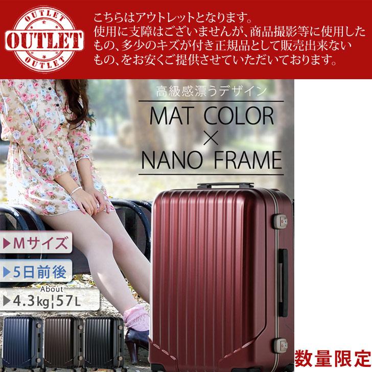 スーツケース mサイズ 軽量 フレーム キャリーケース 大型 スーツケース m 頑丈 8輪 ダブルキャスター
