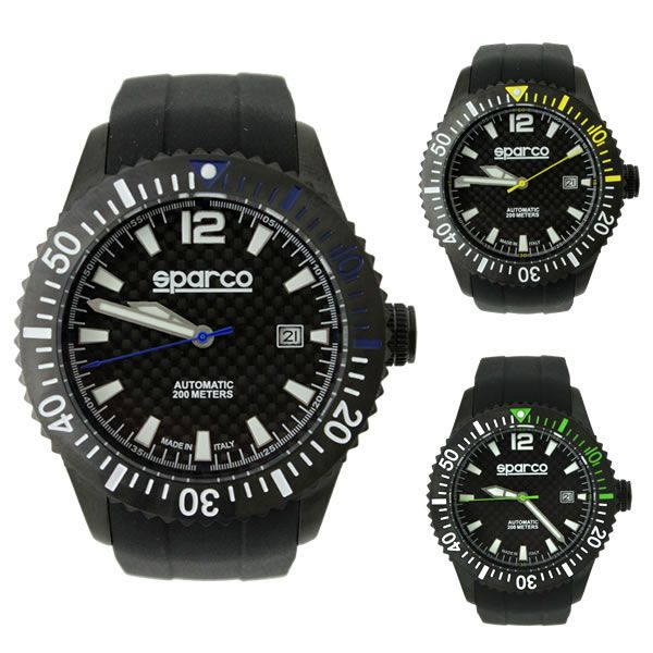 スパルコ ウォッチ CARBON(カーボン) 自動巻き腕時計 200m防水