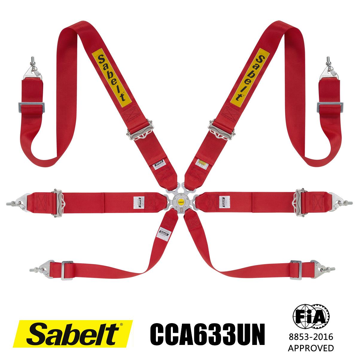 Sabelt サベルト シートベルト CCA633UN 6点式ハーネス ツーリングカー用 FIA8853-2016公認