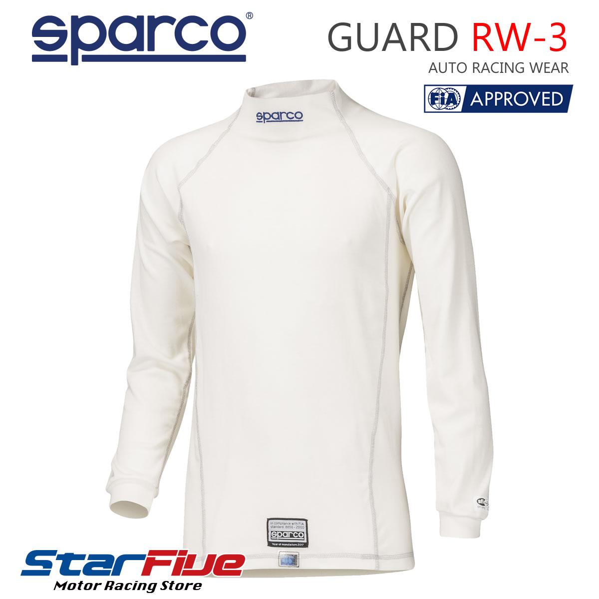 スパルコ アンダーウェア 耐火シャツ 4輪用 GUARD 2020新作 FIA2000公認 ガード 男女兼用 RW-3 SPARCO