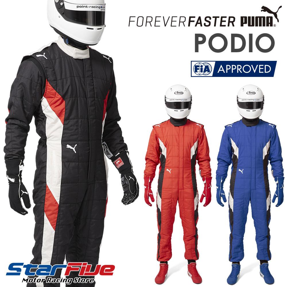 PUMA/プーマ レーシングスーツ 4輪用 PODIO(ポディオ)FIA8856-2000公認