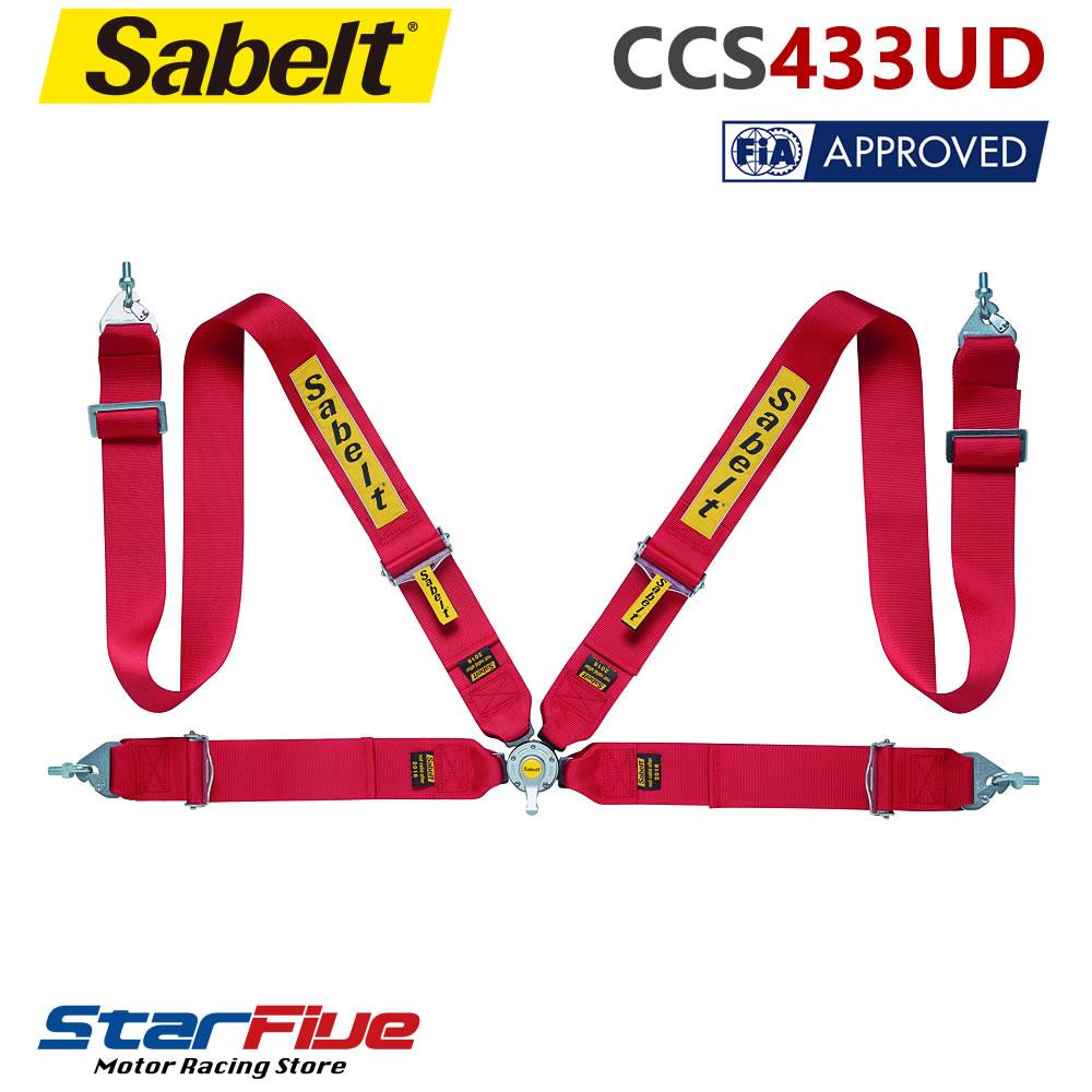 Sabelt/サベルト 4点式シートベルト CCS433UD ツーリングカー用 FIA公認 Sabelt 100セット限定セール
