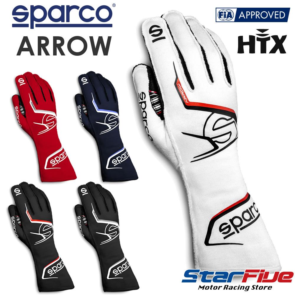 スパルコ レーシンググローブ 4輪用 外縫い ARROW(アロー) FIA 8856-2018公認 2020年モデル SPARCO(サイズ交換サービス)