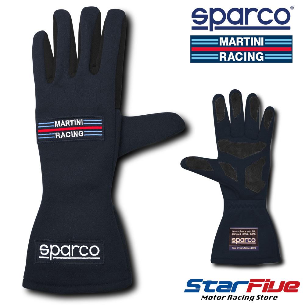 スパルコ× マルティーニ レーシンググローブ 4輪用 内縫い LAND CLASSIC ネイビー FIA2000公認 Sparco MARTINI RACING