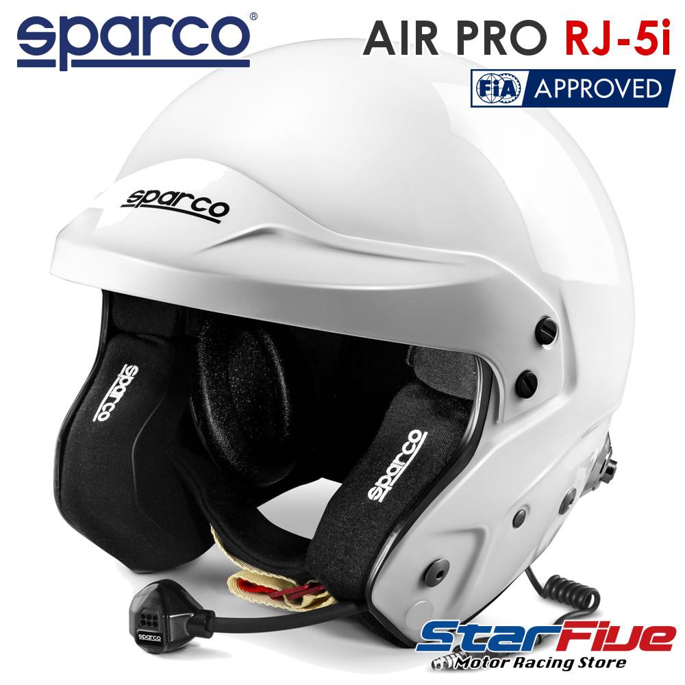 スパルコ ジェットヘルメット AIR PRO RJ-5i 四輪用 ホワイト インターコム付き FIA8859-2015公認 Sparco(2020年モデル)